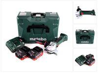 Metabo W 18 LTX 125 Quick Akku Winkelschleifer 18V 125mm ( 602174840 ) + MetaLoc + 2x Akku 5,5 Ah + Ladegerät