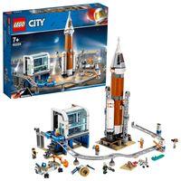 LEGO 60228 City Weltraumrakete mit Kontrollzentrum, Mars Expedition Set, von der NASA inspiriertes Weltraumspielzeug für Kinder mit Astronauten, Wissenschaftlern und Roboter-Minifiguren