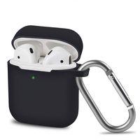 AVANA Hülle für Apple AirPods 2 & 1 Schutzhülle Silikon Cover Kopfhörer Slim Fit Case Tasche Schwarz