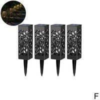 Solar Powered Garten Post Licht LED Yard Pfad Beleuchtung Outdoor Schwarz W1X7