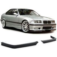 Front Flaps Spoiler Evo Lippen für BMW 3ER E36 90-98 mit Sport Stoßstange