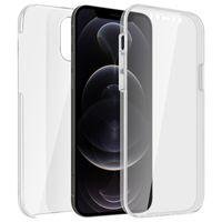 Schutzhülle für Apple iPhone 12 Pro Max, Vorder- + Rückseite – Transparent
