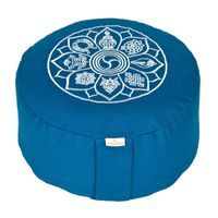 Meditationskissen Glückssitz 8 Glückverheißende Symbole, petrol