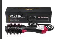 Multifunktionaler Warmluftbürste Hair Styler & Volumizer Haarglätter Negativer Ionenfön Föhn Pinsel Ionengenerator Lockige