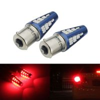 2x 1156 BA15S P21W Rot 5W 48 SMD LED Rücklicht Blinker Rück-Signallicht Rückfahrlicht Birne 12-24V