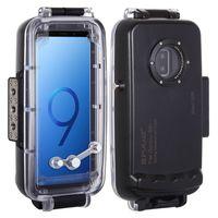 PULUZ 40m / 130ft Diving Unterwassergehaeuse Smartphone-Schutzhuelle Unterwassergehaeuse Stossfester 360°-Vollschutz für Galaxy S9 +