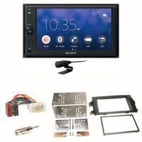 Sony XAV-V10BT Moniceiver Bluetooth USB Einbauset für Suzuki SX 4 Fiat Sedici