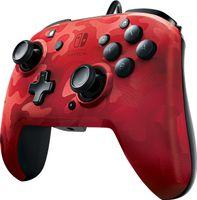 PDP Wired Controller Faceoff Deluxe + Audio für Nintendo Switch, rot-camouflage