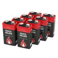 8 ANSMANN Alkaline longlife Rauchmelder 9V Block Batterien -