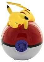 Pikachu Pokeball Wecker FM LED Lampe