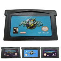 EU / US-Version Zero Mission Metroid Fusion-Spielekassettenkarte fš¹r GBA Metroid: Zero Mission EU