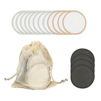 16x Waschbar Abschminkpads, Wattepads aus Baumwolle mit einem Wäschesack 19x15cm 02