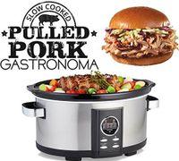 Gastronoma 18280000 Der clevere Pullet Pork Slow CookerKochen Sie Ihre Lieblingsspeisen, wie Pullet Pork, Pulled Turkey oder Pulled Beef.