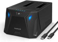 Inateck Festplatten-Dockingstation, USB 3.2 Gen 1 Typ-C HDD/SSD SATA Dockingstation, Dual Bay, Offline-Klonen, FD2005C