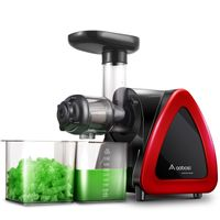 Slow Juicer Entsafter, Aobosi Entsafter Edelstahl, Saftpresse Elektrisch, BPA-Frei Fruchtpresse Entsafter