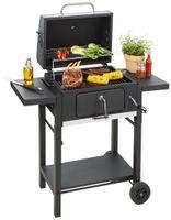 Countryside® Holzkohle Grillwagen   BBQ Holzkohlegrill mit Deckel und integriertem Thermometer