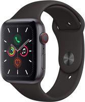 Apple Watch Series 5 Aluminium Cellular Space Grey, 44mm, Sportarmband schwarz, MWWE2FD/A