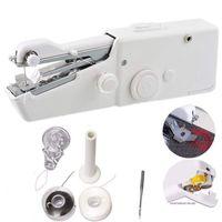 Tragbare Haushalts Mini Hand Nähmaschine Schnell Stich Nähen Hand Schnurlose Kleidung Stoffe Elektronik Nähmaschinen