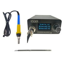 V2.1S T12 Digitaler Temperaturkontrolle Lötstation Elektrische Lötkolben Set 110V-240V 150-480℃ T12-K + 907 Griff