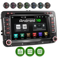 XOMAX XM-10GA: 2DIN Autoradio mit Android 10 Navi 7 Zoll Touchscreen Monitor, Bluetooth, DVD, CD, SD und USB (passend für VW/SKODA/SEAT)
