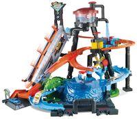 Hot Wheels Ultimative Autowaschanlage mit Alligator inkl. 1 Farbwechsel-Spielzeugauto