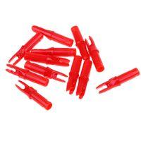 12 Stück Kunststoff Bogenschießen Pfeilnocken für Pfeile ID 6.2mm rot 6,2 mm