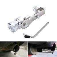 Turbo Sound Pfeife Auspuff Auspuff Ausblasventil Aluminium Silber 11*3 cm/L