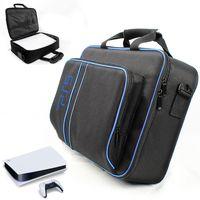 Tragtasche Schutztasche für PS5, Staubdichte Umhängetasche für Playstation 5 und PS5 Digital Edition, PS5-Reisetasche mit großer Kapazität für PS5-Konsole, PS5 Controller, PS5 Spiel-CD und PS5 Zubehör
