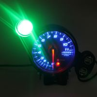 """3,75 \""""Auto Drehzahlmesser Gauge Meter blau LED-Anzeige mit Shift Licht 12V B1116"""