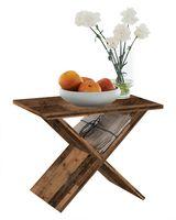 FMD furniture 628-001 Beistelltisch in Nachbildung Old Style dunkel, Maße 54,5 x 43 x 38,5 cm (BxHxT)