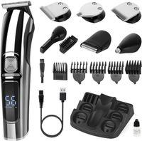 USB Haarschneider Herren Profi Elektrischer Bartschneider Haartrimmer Schwarz 11in1