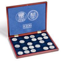 Leuchtturm Münzkassette VOLTERRA 30 20 Euro Münzen Kapseln 32,5mm Sammelbox Holz