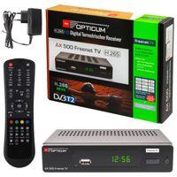 "RED Opticum HD AX500 HEVC H.265 ""Freenet TV""DVB-T/T2 Receiver"