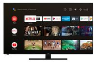 Hitachi U65KA6150 165 cm / 65 Zoll Fernseher (Android 9.0 Smart TV inkl. Prime Video/Netflix/YouTube, 4K UHD + HDR 10, Bluetooth, PVR-Ready, Triple-Tuner)