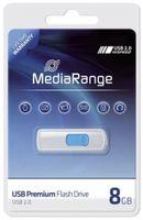MediaRange - USB-Flash-Laufwerk - 8 GB - USB 2.0 - weiß, Blau