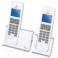 Profoon PDX-8420TE - DECT-Telefon mit 2 Mobilteilen, weiß/taupe