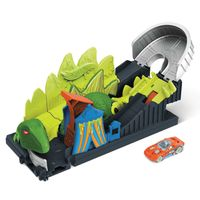 Hot Wheels City Gift-Dino Attacke inkl. 1 Spielzeugauto, Spielset