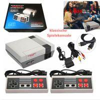 Mini-Retro-Spielekonsole mit 2 Controllern(grau)/TV-Spielekonsolemit 620 integrierte klassische Spiele/die beste Begleitensgeschenk für Kinder