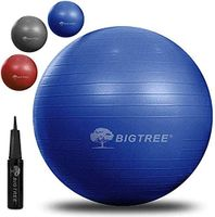 BIGTREE Gymnastikball in Blau, Ø 55cm, Yogaball für Fitness, Zuhause, Büro