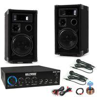 Musikanlage mit PA Boxen und Bluetooth Verstärker DJ-MINI 2