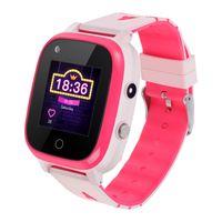 Topchances 4G Kinder Smartwatch, Intelligente Uhr Wasserdicht Smartwatch, GPS Handy Touchscreen Spiel Kamera Videoanruf Voice Chat Wecker für Jungen Mädchen Student Geschenk, Rosa
