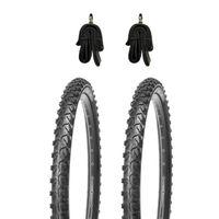 2 Stk. 24 Zoll Reifen 24x1.95 Zoll für MTB inkl. 2 Stk. Fahrradschlauch mit Dunlopventilen