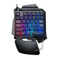 D15 Ergonomische Einhand-Gaming-Tastatur mit Hintergrundbeleuchtung, USB-Kabel für PC