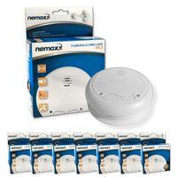 7x Nemaxx WL2 Funkrauchmelder - hochwertiger Rauchmelder Brandmelder Set Funk koppelbar vernetzt - nach DIN EN 14604