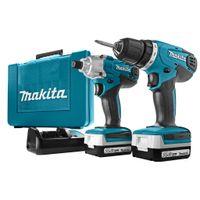 Makita DK1497, Handbohrmaschine, Ohne Schlüssel, 1 cm, 2,5 cm, 1 cm, 1 mm