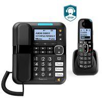 Verstärktes schnurgebundenes Telefon AMPLICOMMS BigTel 1580 Combo