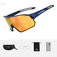 ROCKBROS Polarisierte Sportbrille Fahrrad Sonnebrille UV400 Vollformatbrille DHL