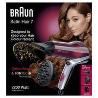 Braun Satin Hair 7 HD 770 Haartrockner mit IONTEC und Colour Saver Technologie (inklusive Diffusor Aufsatz)