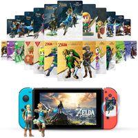 24Stück NFC Tag-Spielkarten für The Legend of Zelda Breath of The Wild Neue The Legend of Zelda Mini NFC Amiibo Karte kompatibel mit Nintendo Switch / Switch Lite/ Wii U/ New 3DS