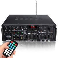 AUDEW 2000W HiFi Verstärker bluetooth Stereo-Vollverstärker Audio Endstufe mit Fernbedienung